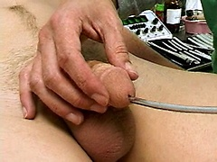 College boy gets jerked off by doctor in the college exam room., Added: 2012-01-30, Duration: 2:30