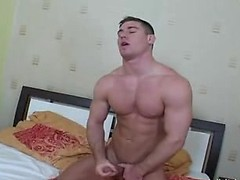 Handsome dude wake up and wank in his bed alone and cum, Added: 2012-07-26, Duration: 2:00