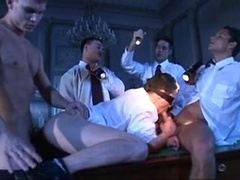 Blindfolded student is initiated to a hot frat boy gang bang, Added: 2012-09-21, Duration: 2:00