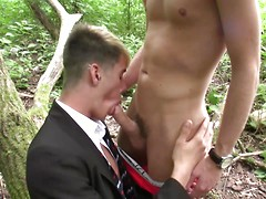 Innocent-looking schoolboy proves anything but with a woodland suck & fuck!, Added: 2014-04-06, Duration: 2:24