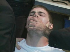 Straight stud's butthole gets violated by the Gay Mafia in the paint shop., Added: 2011-12-13, Duration: 2:01