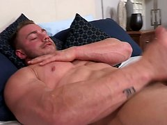 Brock jacking off his muscled cock, Added: 2019-01-29, Duration: 1:26