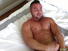 Thick Muscle Jock George Gomez Strokes His Cock, Added: 2019-02-08, Duration: 2:07